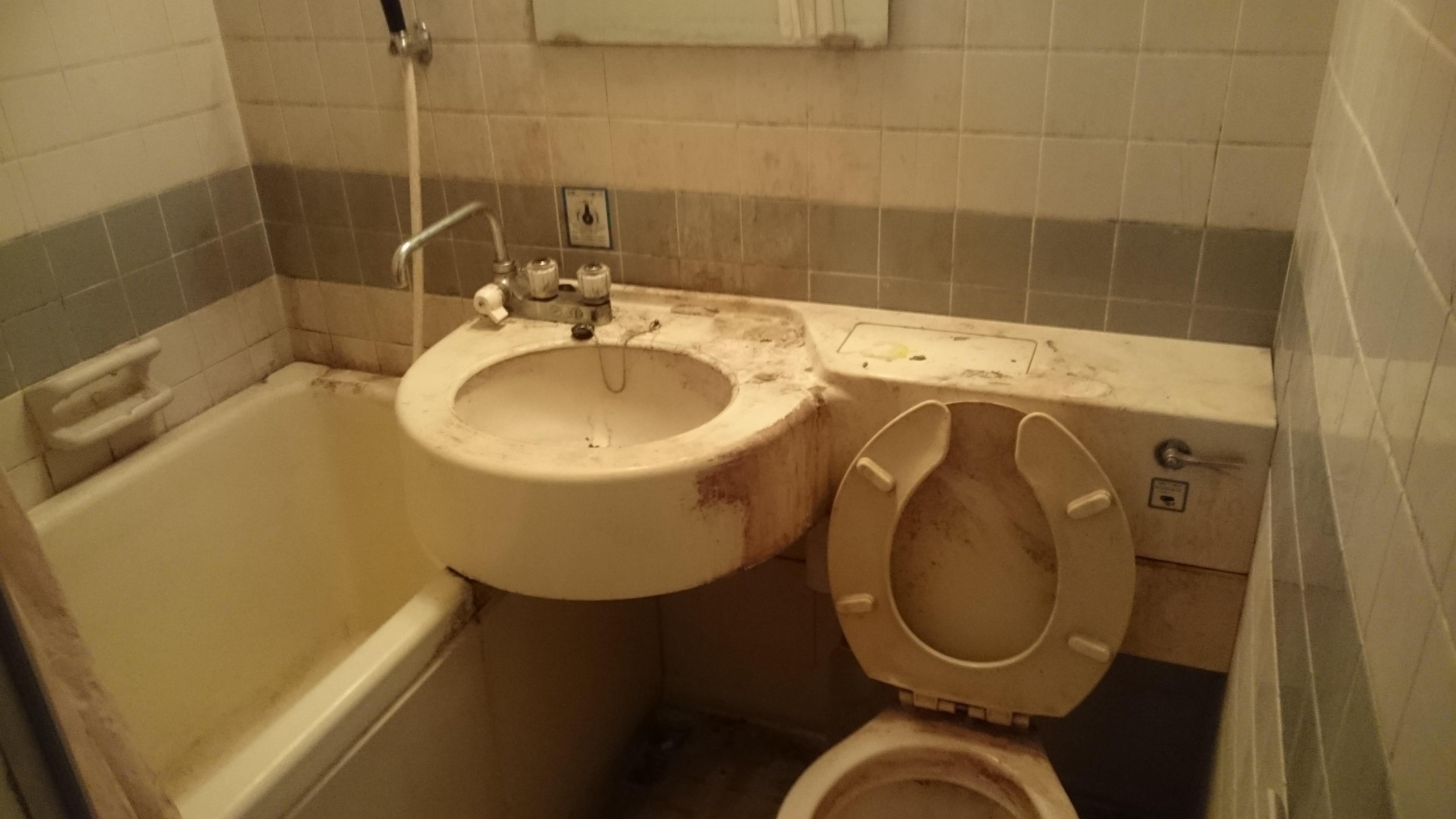 ゴミ屋敷の浴室清掃