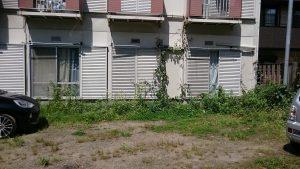 賃貸住宅の除草作業