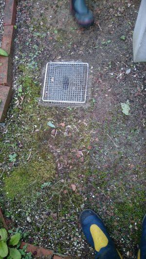 排水口に金網を設置