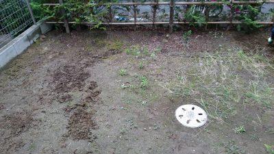 庭のリフォーム前