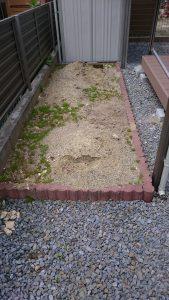 花壇工事施工前