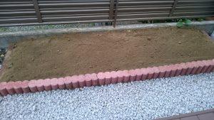 花壇工事施工後